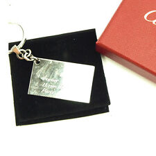 Cartier key ring Key holder Silver Woman unisex Authentic Used Y5744