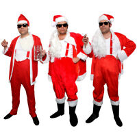 ADULTS NAUGHTY SANTA COSTUME BAD SLEAZY FATHER CHRISTMAS FUNNY FANCY DRESS LOT