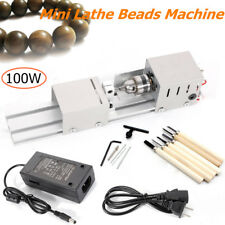 100W Mini Lathe Beads Polisher Machine Wood Woodworking DIY Rotary Set 110V