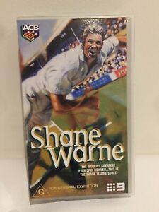 Vintage 2000 Like New SHANE WARNE: The World's Greatest Ever Spin Bowler VHS