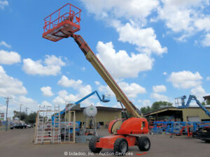 2008 JLG 600S 60' 4WD Diesel Telescopic Boom Lift Man Aerial Platform bidadoo