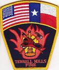 Terrell Hills Fire Department Texas patch NEW    Firefighter