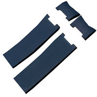 22mm Blue Rubber Silicone Watch Strap Band Compatible With Ulysse Nardin Marine
