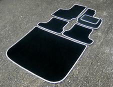 Black/White Car Mats to fit Audi TT Mk2 (06-14) + Boot Mat - FREE COLOURED TRIM!