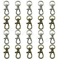 10Pcs Swivel Trigger Clips Snap Hooks Lobster Clasp Keychain Bag Craft DIY Key