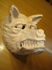 Maskenrohling Wolf  Perchtenmaske, Fasnet, Rohling, Holzmaske Larve,Nr. 130