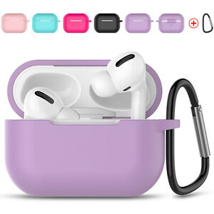For AirPods 3rd Gen / AirPods Pro Silicone Wireless Charging Case Cover+Keychain