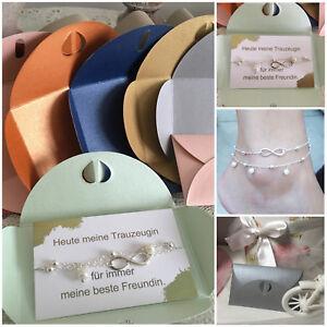 Trauzeugin Geschenk Hochzeit Perlen Fußkette Brautjungfer beste Freundin Braut