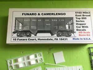 Funaro & Camerlengo 5102 HOn3  EAST BROAD TOP 800 Series Steel Hopper -w- decals