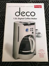 """Prestige DECO 1.5L Digital Coffee Maker - *USED with new filter and glass pot"""""""