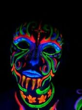 Glow In Dark Neon UV Body and face Paint Set of 4