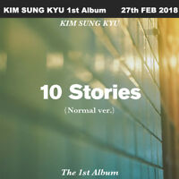 KIM SUNG KYU 10 Stories 1st Album Normal Ver CD+Booklet+Photocard+Poster+Etc