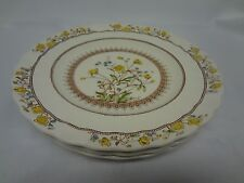 Spode China - Buttercup - Set of Four Round Salad Plates