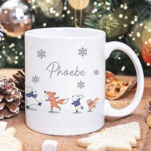 Personalised Skating Animals Mug/Cup Tea Coffee Gift Any Name Cute Xmas Present