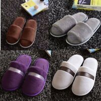 Unisex Coral Velvet Open Toe Slippers Hotel Home Spa Clubs Beauty Salons Shoes