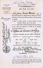 L' AFFAIRE DU COURRIER DE LYON Epoq 2-3 Tribunal Crime Poirier GAUMONT Film 1923
