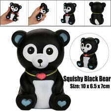 Jumbo Squishy Black & White Bear Soft Squeeze Toy Slow Rising Squishies USA Cute