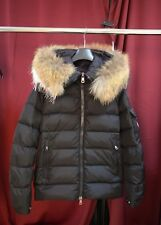 New Authentic Moncler Byron Men's Black Fur-Trim Hooded Puffer Jacket EU2/Medium