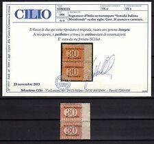 SOMALIA 1906 Segnatasse 2x30c BDF MNH** (CL) Certificato