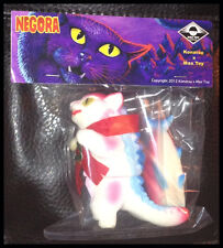 NEGORA SNOW WHITE FLOCKED HOLIDAY CAT & BIG FISH KAIJU MAX TOY COMPANY NIB RARE