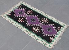 Turkish Kilim Rug 22''x43'&# 039; Hand Woven Van Kilim 56x110cm