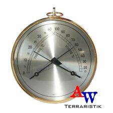 Thermometer & Hygrometer - analog - goldfarben Messing