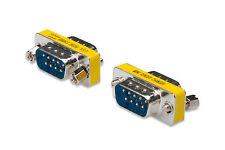 09pol Gender Changer seriell RS232 Stecker/Stecker Belegung 1:1 Metallgehäuse