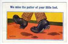 (Lv427-100) Donald McGill, We Miss The Patter of Your Little Feet, 2086, c1930