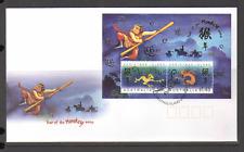 Christmas Island 2004 YO MONKEY/Greeting m/s FDC n15419