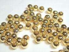 35 + 6mm Oro Metal Plateado spacer/choker Beads