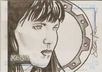 Xena Art Images Sean Pence Sketch Card  Xena with Chakram hand drawn SketchaFEX