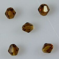 100pcs Swarovskl 4mm Bicone Crystal beads B Amber
