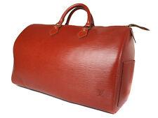 Auth LOUIS VUITTON Speedy 40 Brown Epi Leather Boston Bag ULB0004