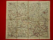 alte Landkarte auf Leinen Bischofswerda Neustadt Stolpen von 1911 ( F 17184