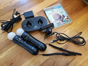 Sony Playstation 3 PS3 Move Controllers and Motion Eye Camera System w/Charger