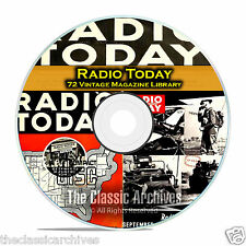 Radio Today, 72 Vintage Old Time Radio Magazine Collection in PDF on CD B84