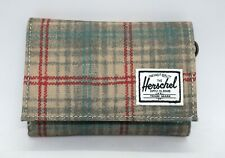 HERSCHEL SUPPLY HILLTOP (GREY PLAID) CANVAS TRI-FOLD WALLET BRAND NEW w/TAGS!!