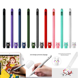 Cartoon Silicone Protective Case Holders Nib Cover For Apple iPad Pencil 1st