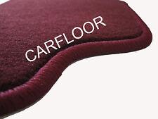 Fußmatten passend für Porsche Cayman Bj. 05-08 in Velours Deluxe weinrot