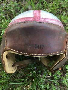 J C Higgins Vintage Leather Football Helmet