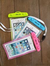 Neon Waterproof Cell Phone Case Touch Screen Pouch Necklace