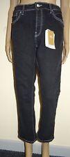 Mango Sayana Organic Cotton Straight Black Denim Jeans UK Size 10 Vr57 010