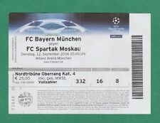 Orig.Ticket  Champions League  2006/07  BAYERN MÜNCHEN - SPARTAK MOSKAU  !!