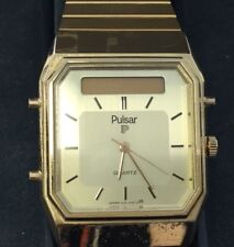 Mens Vintage Pulsar Analogue & Digital Wrist Watch With Box-As Is-Parts JOB6