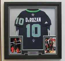 Toronto Raptors Demar DeRozan Signed NBA Basketball 2014 All Star Jersey Framed