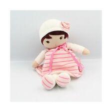 Doudou poupée blanc rose rayé coeurs KALOO - Poupée - Lutin Classique