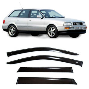 For Audi 80 Avant V 1991-1996 Window Visors Side Sun Rain Guard Vent Deflectors