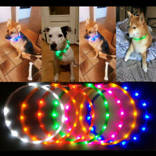 LED Pet Dog Collars Luminous Collar USB Rechargeable for Small Medium Large Dogs