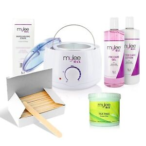 A Mylee Complete Waxing Kit, Includes Salon Quality Wax Heater, Soft Cream Wax,