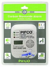 PIFCO Digital Display Carbon Monoxide Alarm CO Detector - 7 Year Life EN 50291